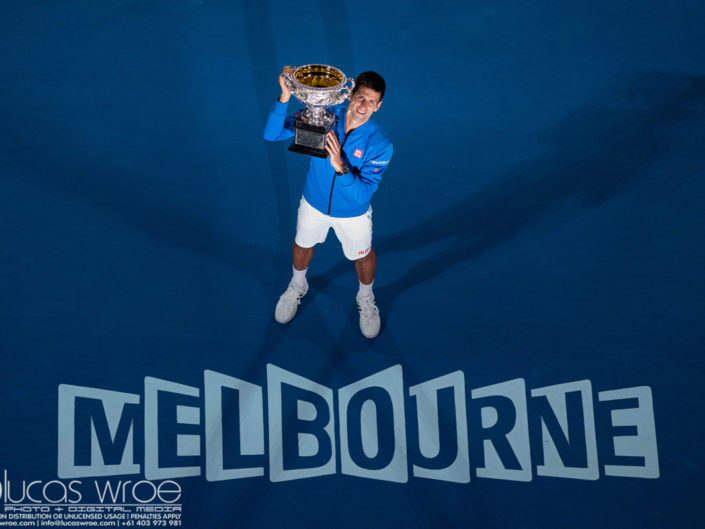 NOVAK DJOKOVIC (SRB), February 1, 2015 - TENNIS : Australian Open Championship. Melbourne Park, Melbourne, Victoria, Australia. Credit: Lucas Wroe