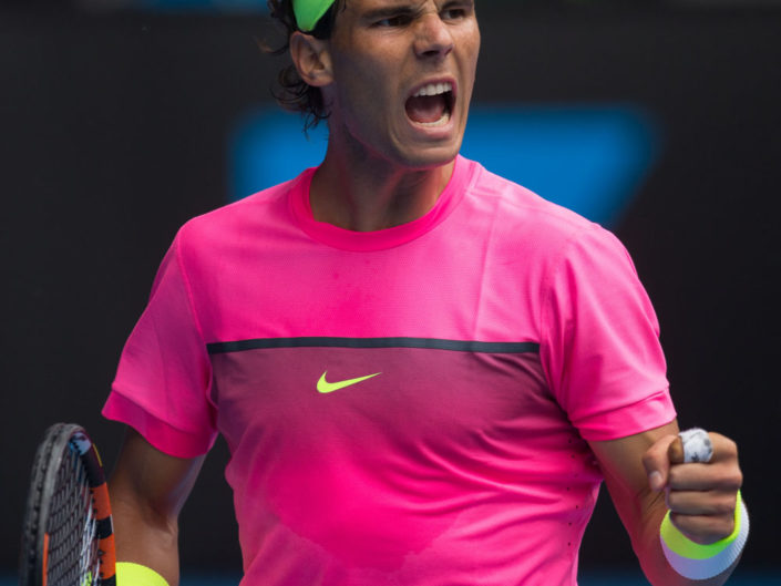 RAFAEL NADAL (ESP), January 27, 2015 - TENNIS : Australian Open Championship. Melbourne Park, Melbourne, Victoria, Australia. Credit: Lucas Wroe